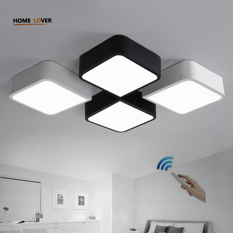 led light ceiling lamp for indoor home lighting bedroom kitchen Living room lights plafonnier led moderne dimmable abajur itimo wireless led bulb with remote control dimmable 220v e27 home indoor lighting night light us plug bedroom light lamp