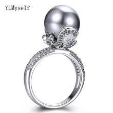 2021 Сезон Зима; Новые элегантные большие жемчужные кольца крошечные
