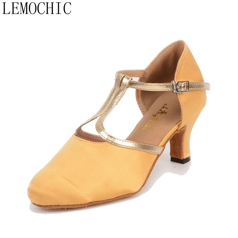 LEMOCHIC ladies new style bally jazz cha cha pole salsa genuine leather rumba samba latin tango ballroom pointe dancing shoes