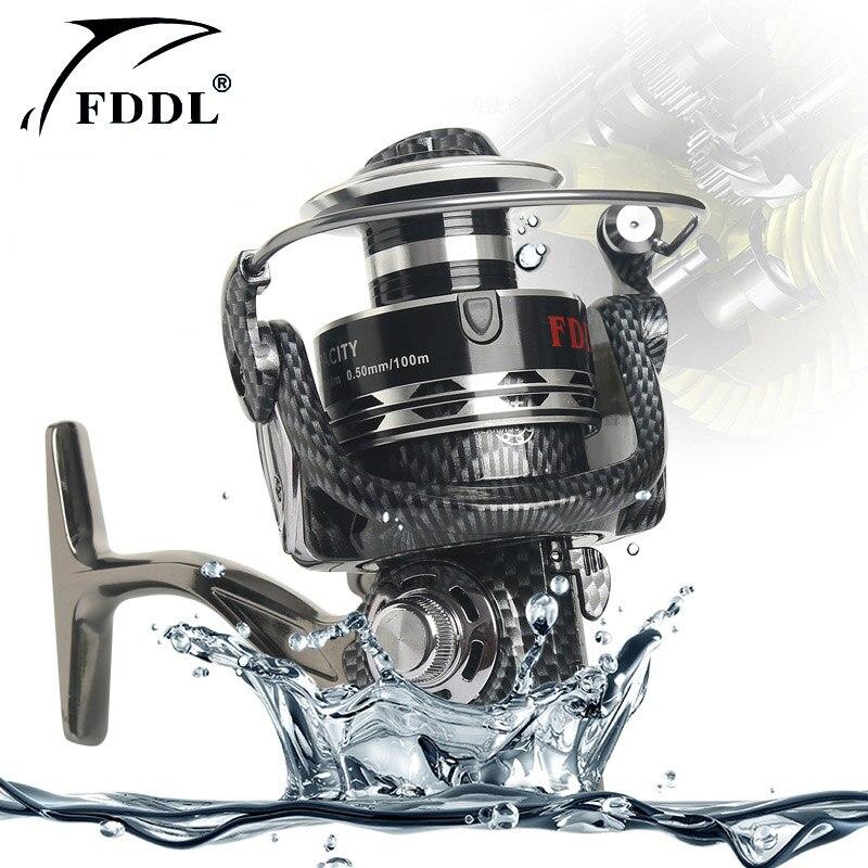 12 + 1BB Rybářské navijáky 1000 -10000 Spinning 5.2: 1 Rychlostní poměr Hrubý rybářský nábytek Lehký