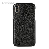 LANGSIDI Brand Phone Case Litchi Grain Half Wrapped Phone Case For IPhone 8 Phone Case Full