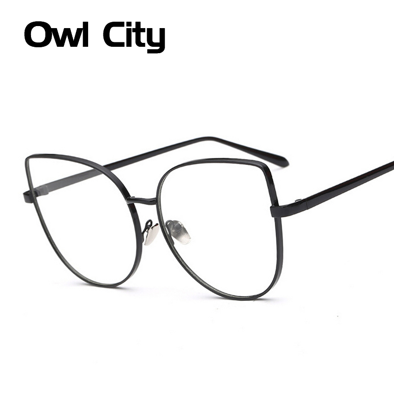 Luxury Oversized Cat Eye Eyeglasses Frame Brand Design Clear Vintage Women Big Optical Eyeglasses Frame Eyewear For Female