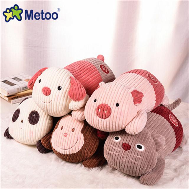 53 CM Bonito Brinquedos de Pelúcia Do Bebê Boneca Metoo Bicho de pelúcia Do Cão Porco Macaco gato Almofada Do Sofá Boneca de Brinquedo para Crianças Presentes 4 Estilos A105