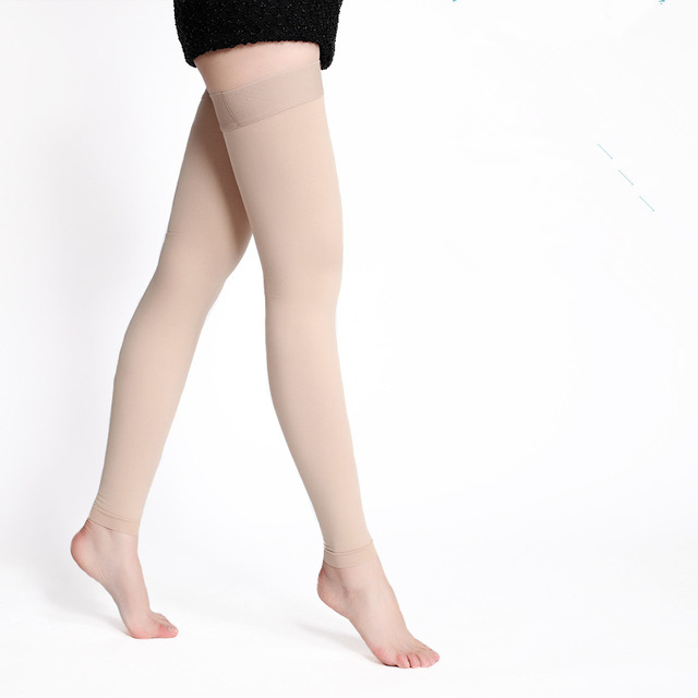 One Pair Medical Compression Stockings Varicose Veins 20-30mmhg Pressure High – Above The Knee Compression Stockings