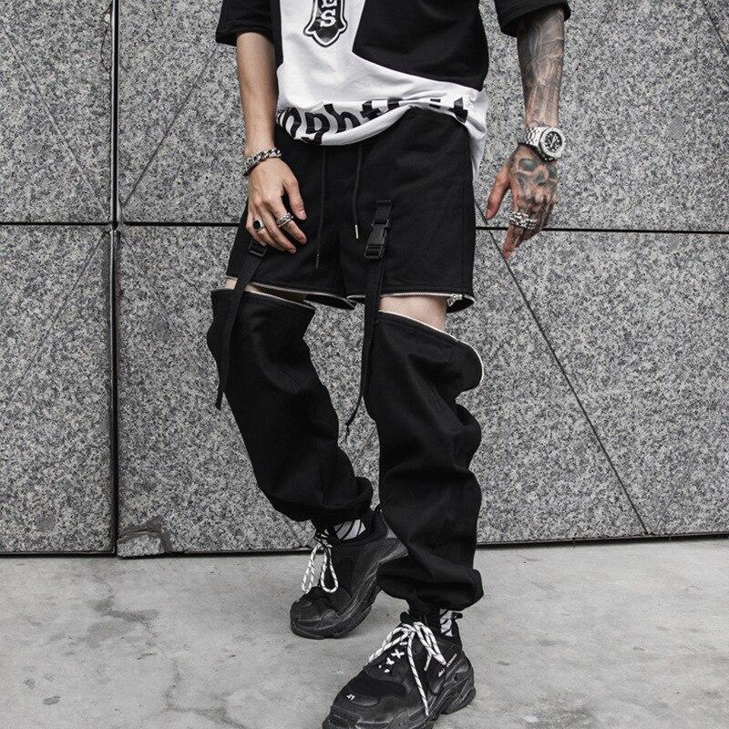 2019 Mode Männlichen Street Hip Hop Cargo Pant Männer Abnehmbare Casual Harem Hose High Street Hosen Jogging Jogginghose Mangelware