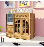 Cartoon Cat Cosmetics Storage Box Shelf Desktop Drawer Large Capacity Simple Dressing Table Skincare Shelf For Girl Room