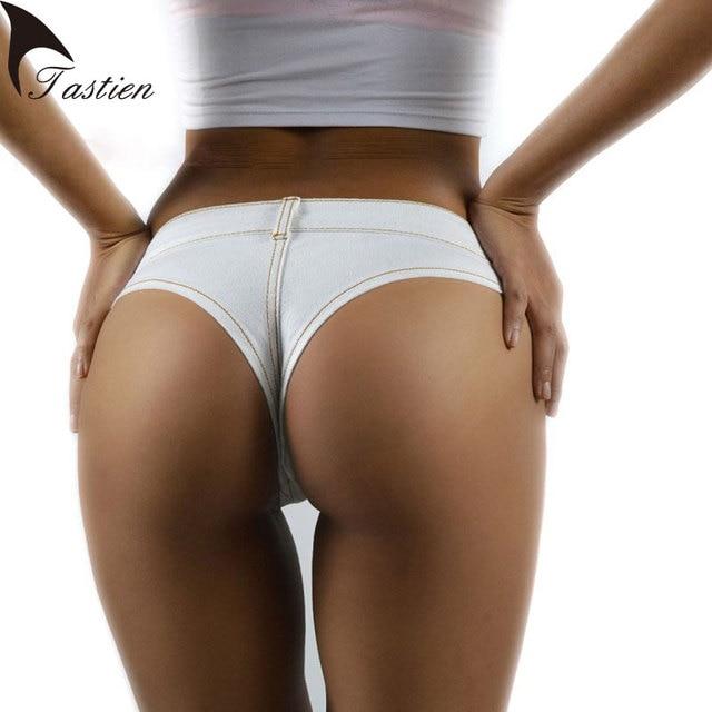 TASTIEN 2017 Sexy Women Shorts New Fashion Summer Denim Cotton Short Low  Waist Stretch Mini Super 900be2d1d2d