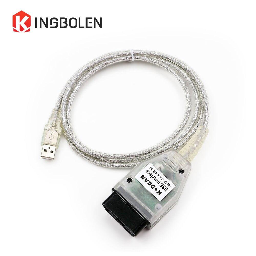Prix pour Haute Qualité Câble De Diagnostic Pour BMW INPA K + CAN K + DCAN Vert Conseil USB De Diagnostic Interface Coder Scanner livraison Gratuite