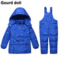 Baby boys girls winter clothing set 90% thicken duck down snow wear kids overalls for infant down & parkas Suitable 10-24 month