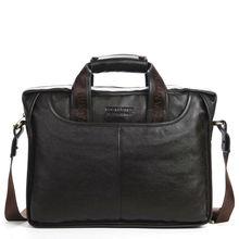 Мужская деловая сумка через плечо из 100% натуральной воловьей кожи с отделением для ноутбука 14″