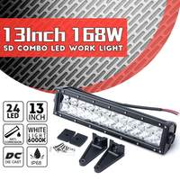 1Pcs 5D 168W 13inch LED Combo Work Light Bar for Offroad Driving Lamp 4WD Truck ATV Car Light Bar Roof Working Lamp