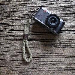 Cam-in WS024 коровья кожа и хлопковая пленка камера ремешок на запястье кожаный DSLR spire lamella ручной ремень аксессуары для фотографии длина 27,5 см