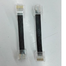 150PCS/lot  7cm CAT6 CAT 6 Flat UTP Ethernet Network Cable RJ45 Patch LAN cable brand product free shipping.