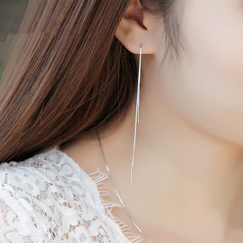 Fashion 15cm Long Strip Shape Earrings Women Fine Jewelry Drop