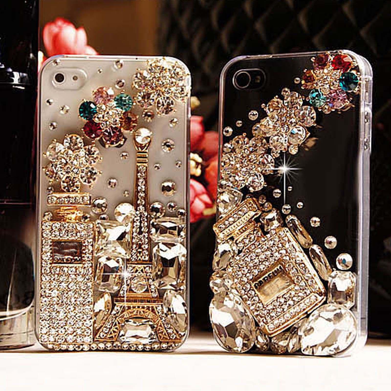 Цена за XINGDUO Bling Rhinestone Кристаллическое Роскошные Эйфелева Башня Ручной Case Для iphone 7 7 Plus 6 6s 6 SPlus 5 5S SE 5C
