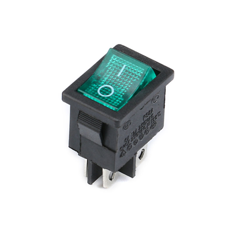 1PCS KCD1 2PIin 3Pin Boat Car Rocker Switch 6A10A 250V125V AC Red Yellow Green Blue black Button Best Price KCD1 (12)