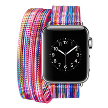 Genuine leather Watchband For Apple Watch 38mm 42mm Women Men Replacement colorful DIY part Bracelet Strap Band for iwatch 1 2 3