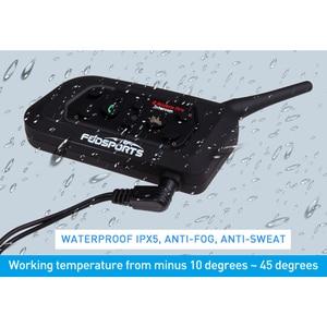 Image 3 - Fodsports 2pcs V6 Pro Intercom Motorcycle Bluetooth Helmet Headset 6 Riders 1200M Motorbike Wireless BT Interphone