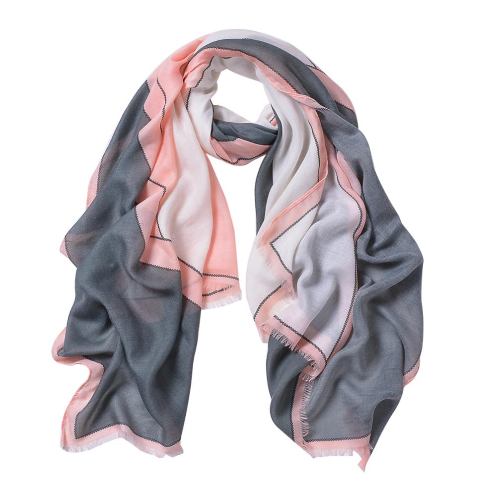 Fashion Rhombic Pattern Printed Women Colour Blocking Spring   Scarf     Wrap   Shawl