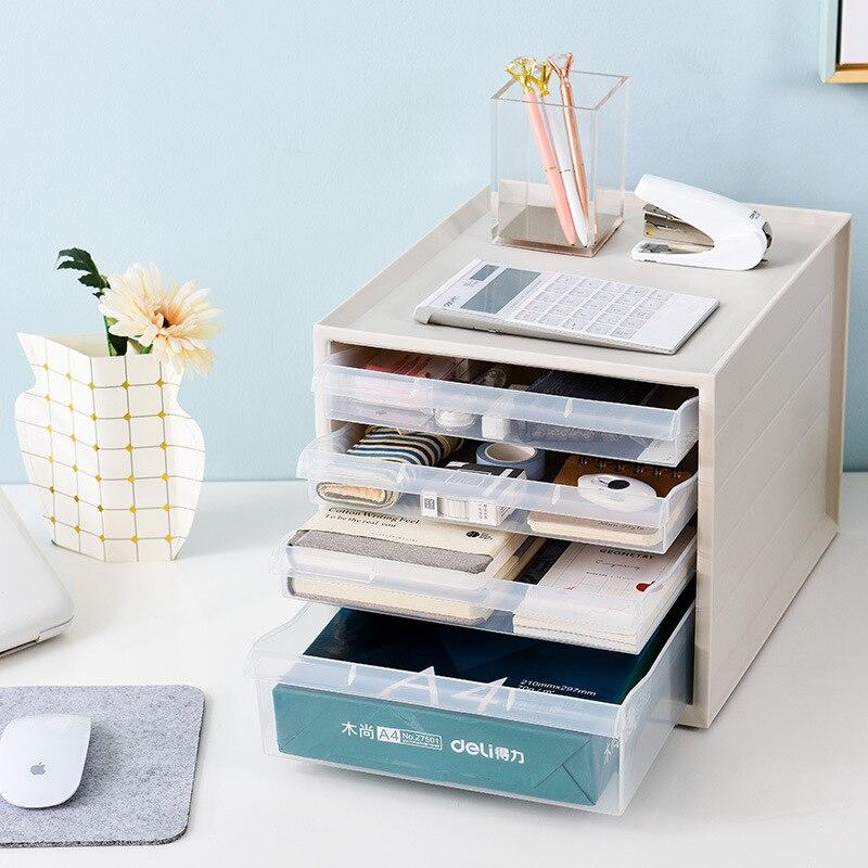 Creative plastique cloison tiroir boîte de rangement moderne maison chambre bureau bureau fichier divers stockage finition tiroir