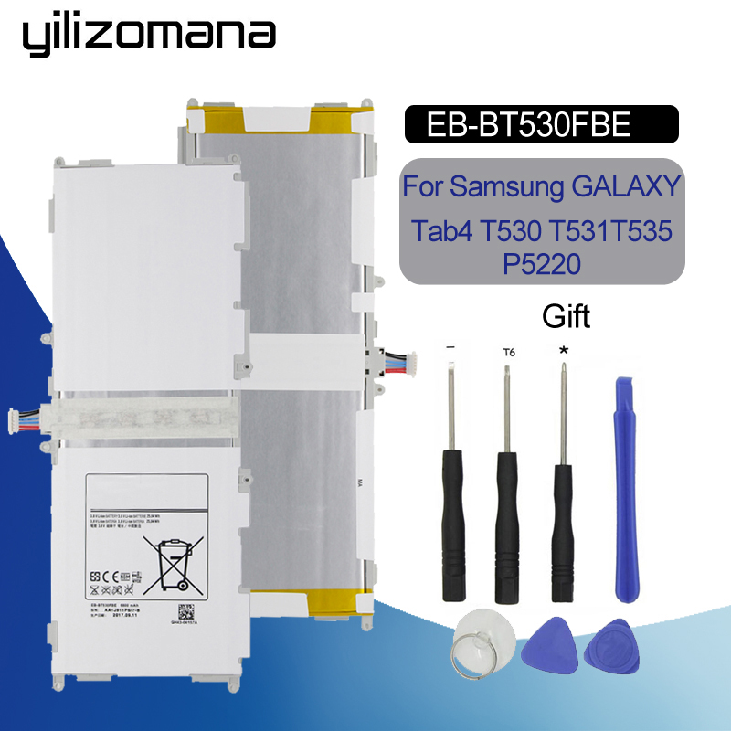 YILIZOMANA Tablet Battery EB-BT530FBU EB-BT530FBC For Samsung GALAXY Tab4 Tab 4 SM-T530 T531 T535 T537 T533 T535 6800mAh