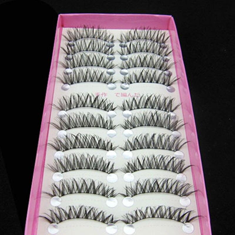 20Pair Lengthening Natural Crisscross False Eyelashes Soft Long Makeup Eye Lashes Extension Tools Bigeye Cross Fake Eyelashes
