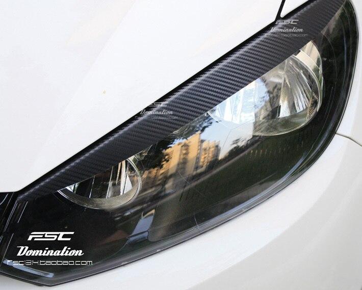 Новая версия! Чехол-наклейка из углеродного волокна для Volkswagen GOLF 6 VW golf 6 MK6 / GTI /R20, светоформовочная линия для глаз
