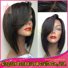 Free Part Glueless Bob Lace Front Wigs 100% Virgin Brazilian Short Full Lace Human Hair Wigs For Black Women With Baby Hair