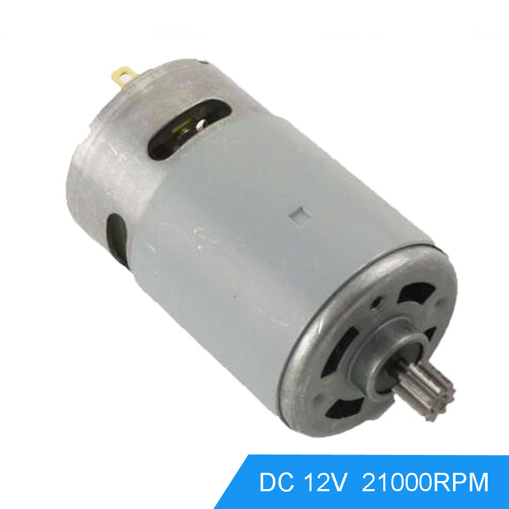Dc reduction motors geared 12v 21000rpm speed high torque for Reduction gearbox for electric motor