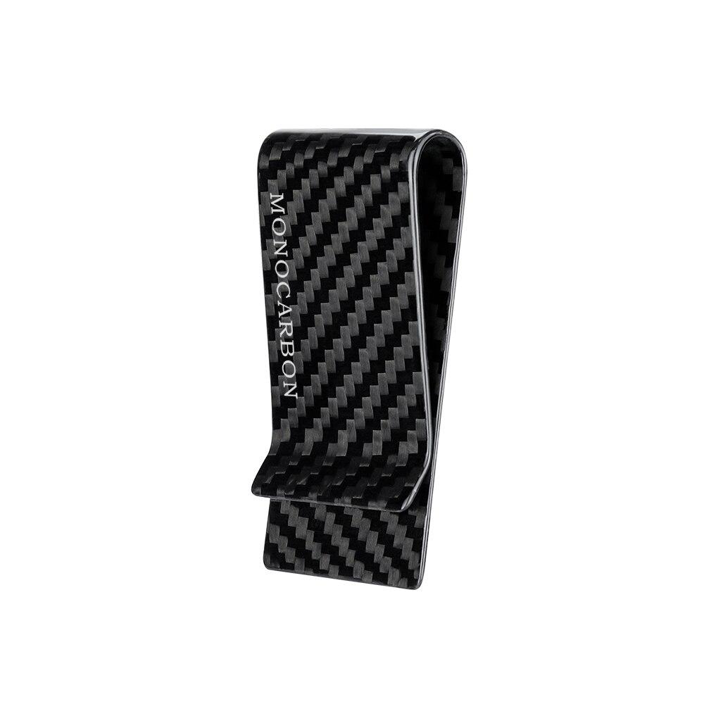 Monocarbon minimalista genuíno fibra de carbono dinheiro clipes carteiras braçadeira de fibra de aramida para o dinheiro