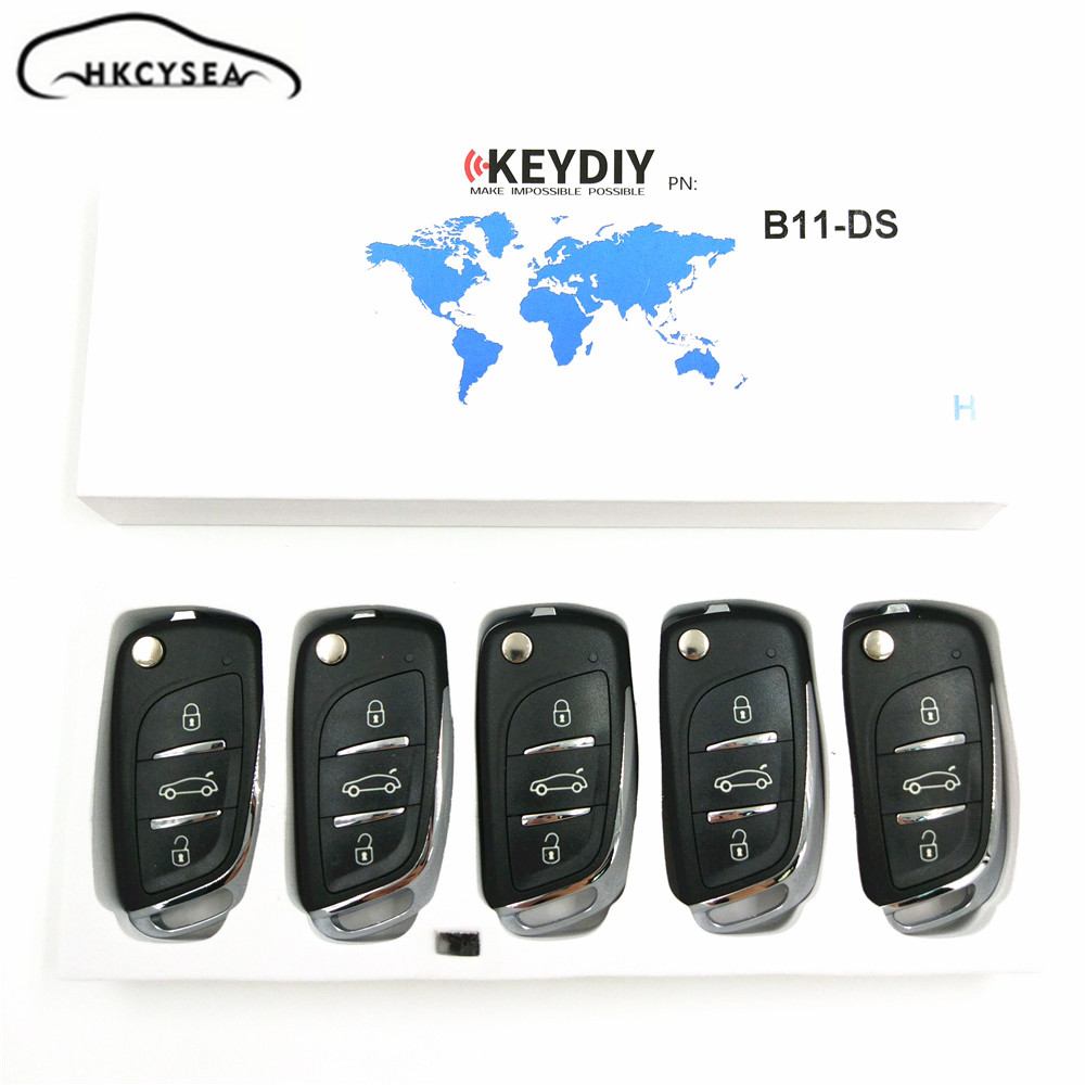 HKCYSEA 5PCSLOT KD Remote B11 3 Button Remote Key B Series for URG200 KD-X2 KD900 KD200 Key Programmer цена