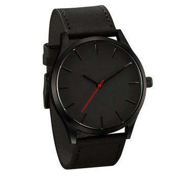2021 NEW Luxury Brand Mens Watches Sport Watch Men's Clock Army Military Leather Quartz Wrist Watch Relogio Masculino - Black