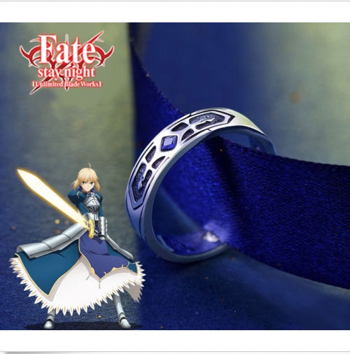 Fate/stay Night Saber Die Heilige Gral Krieg Excalibur 925 Sterling Silber Ring Cos