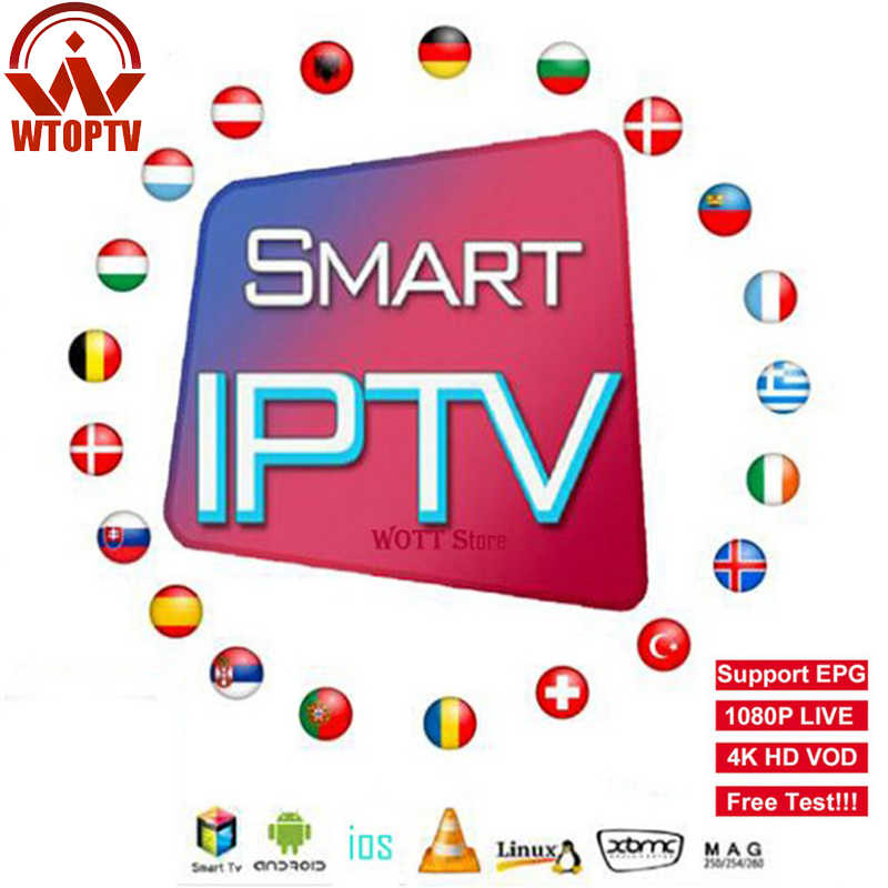 WTOPTV IPTV abonnement Europe France arabe Canada amérique royaume-uni allemand italien portugais IPTV smart tv m3u EPG Test gratuit
