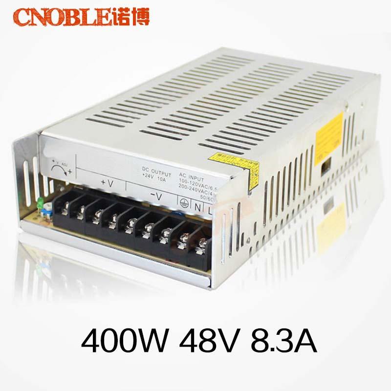 400W 48V 8.3A Single Output Switching power supply for LED Strip light AC to DC LED Driver allishop 300w 48v 6 25a single output ac 110v 220v to dc 48v switching power supply unit for led strip light free shipping