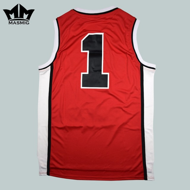 31014b59992e MM MASMIG Sunset Park Fredro Starr Shorty 1 Sunset Park Basketball Jersey  Red S-3XL