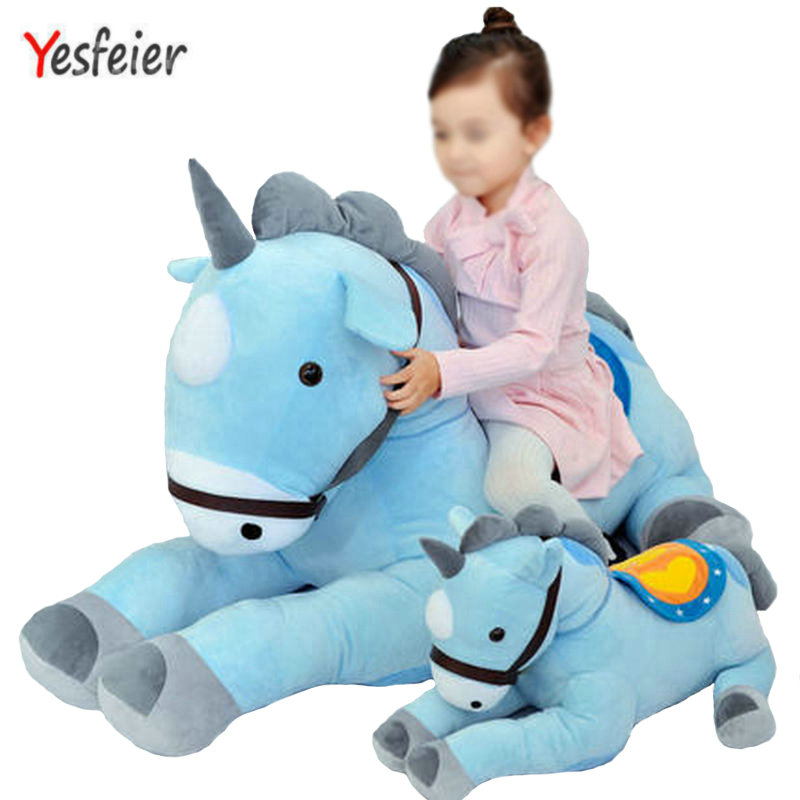 50/70CM Giant Pink/blue Unicorn Plush Toy Plush Stuffed Animal Horse Unicorn High Quality Kids Birthday Gift big capacity high quality canvas shark double layers pen pencil holder makeup case bag for school student with combination coded lock