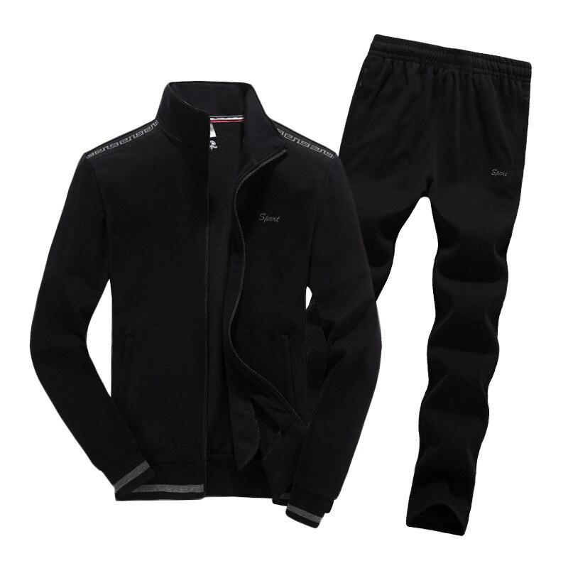 Hommes 2019 printemps automne confortable chaud course Sport costume grande taille L-8XL 2 mètres peut porter Jogging Fitness costume Sport vêtements
