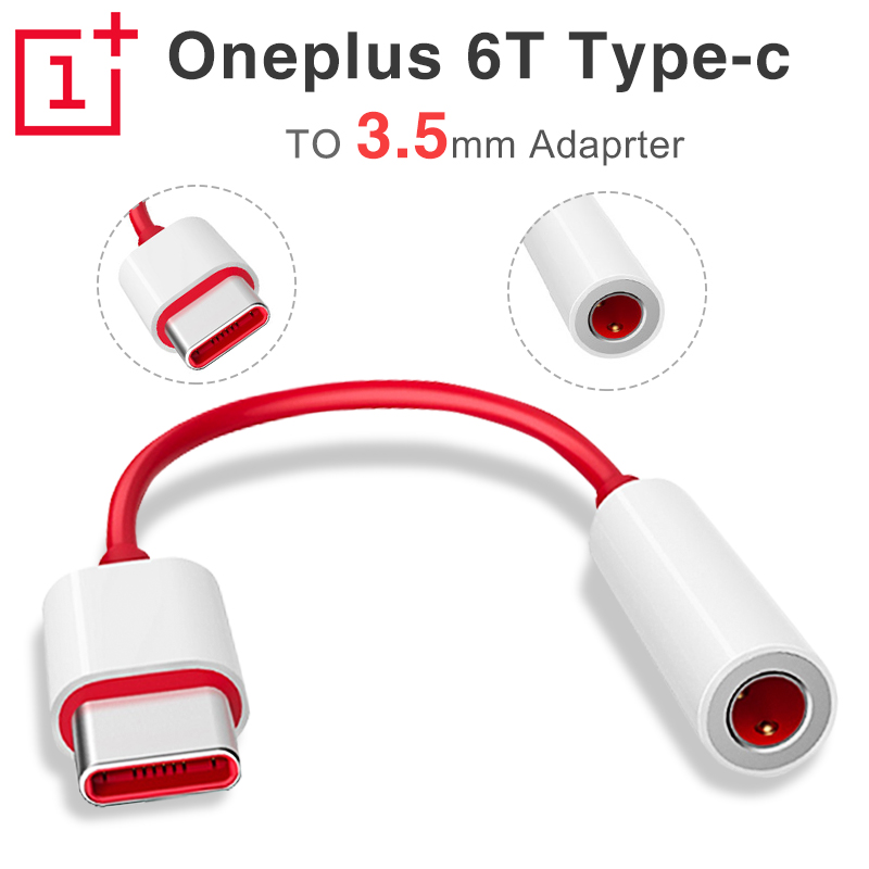 100% Original Oneplus 6T 7 Pro Usb Type C To 3.5mm Earphone Jack Adapter Aux Audio For One Plus 6t  Usb-c Music Converter Cable