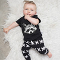 Baby Infant Clothing Set New 2016 Summer Cartoon Pure Cotton Squirrel T-shirt + Pants Two Piece Suit for Boys Clothes BBS057