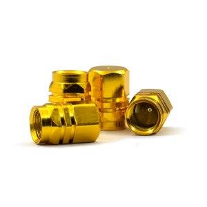 Image 4 - Fábrica de venda quente capa pneus válvulas haste do pneu tampas ar hermético novo 4 unidades/pacote theftproof roda de alumínio do carro com melhor preço