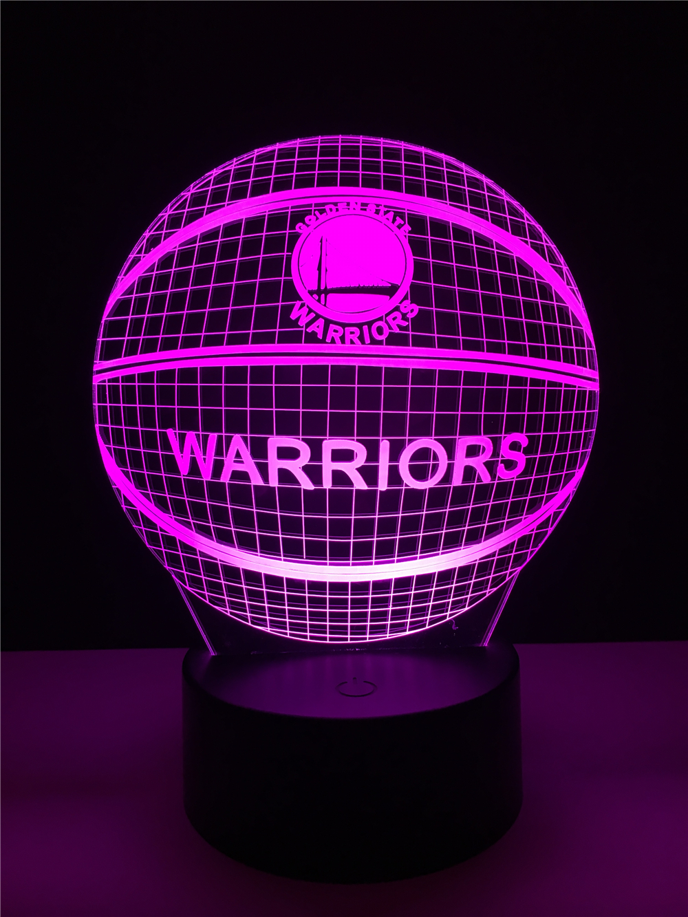 Luzes da Noite nba logo golden state warriors Function 3 : Stage Lighting Effect/wedding Decor/house Decoration