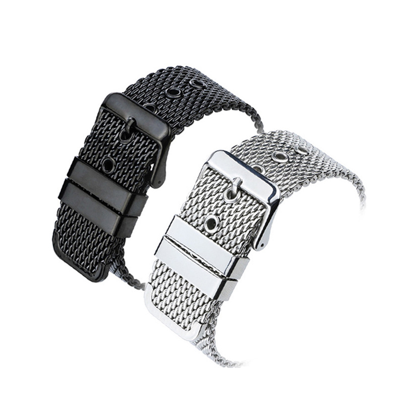 18mm/20mm/22mm/24mm Generic Stainless Steel Watch Strap Bracelet Mesh Buckle Watch Band Wristbands Accessories18mm/20mm/22mm/24mm Generic Stainless Steel Watch Strap Bracelet Mesh Buckle Watch Band Wristbands Accessories