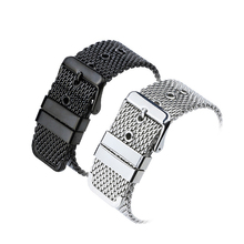18mm/20mm/22mm/24mm Generic Stainless Steel Watch Strap Bracelet Mesh Buckle Band Wristbands Accessories