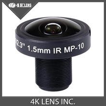 4K LENS 1.5MM Lens 10MP IR Fisheye 1/2.3 Inch for 360 Video Camera Arrays and Gopro Recorder 2015 Hot