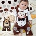 Sale0-2age bebé ropa pantalones del babero del mono de manga larga del mameluco del bebé de primavera y otoño mono del verano ENVÍO GRATIS