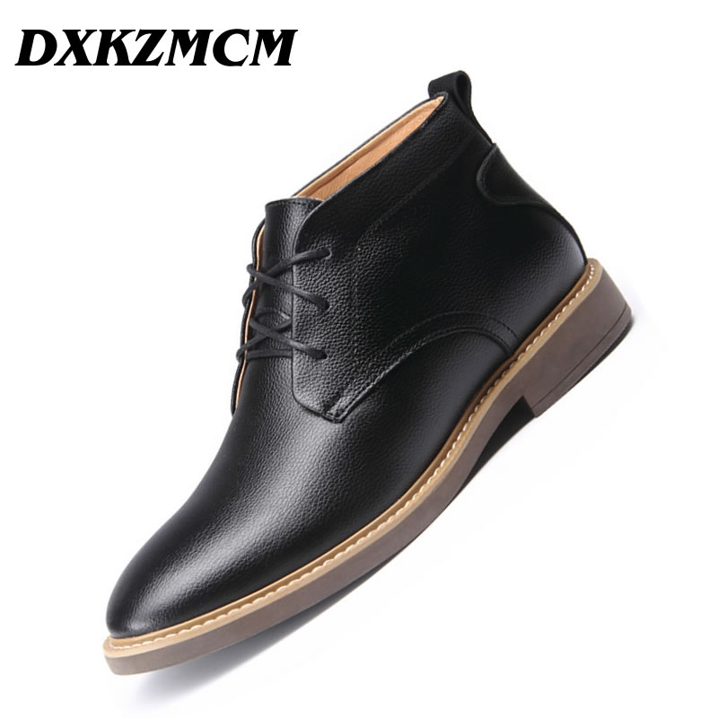 Genuine Leather Men Boots Autumn Winter Ankle Boots Fashion Footwear Lace Up Shoes Men High Quality Vintage Men Shoes genuine leather men boots autumn winter ankle boots fashion footwear lace up shoes men high quality vintage men shoes qy5