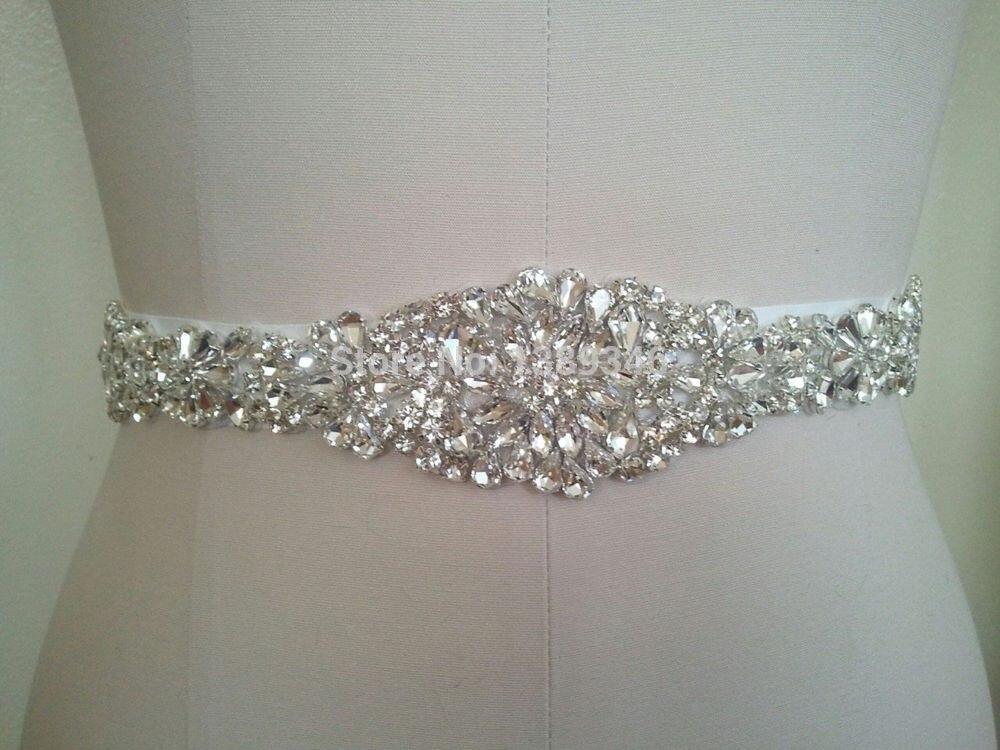 Retro Wedding Belt Crystal Beaded Bride Bridal Sash Weddings Dress Accessories Decorations