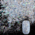 10g/Box Born Pretty Transparent Blue Diamond Glitter Nail Sequins Powder Dazzling Nail Glitter Tips Manicure Nail Art Decoration