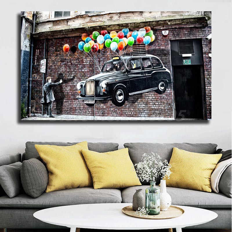 Banksy Street Artwork Wallpaper Wall Art Canvas Poster And Print Canvas Painting Decorative Picture For Living Room Home Decor